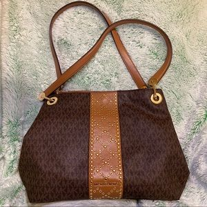 Michael Kors Brown and Gold Purse (pre-owned)